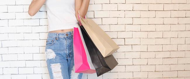 compras con bolsas de papel
