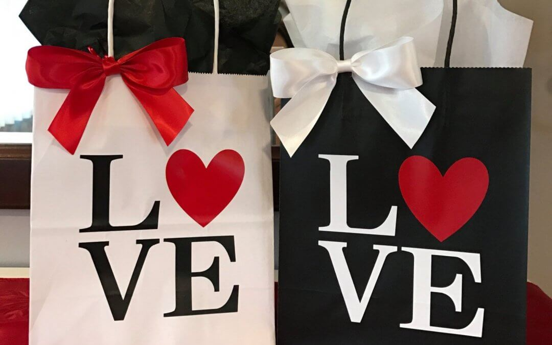 Ideas de bolsas de papel creativas para San Valentín