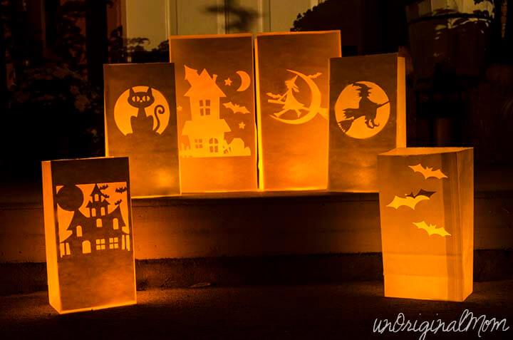 farolillos de papel para Halloween