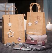 decorar bolsas de papel para navidad