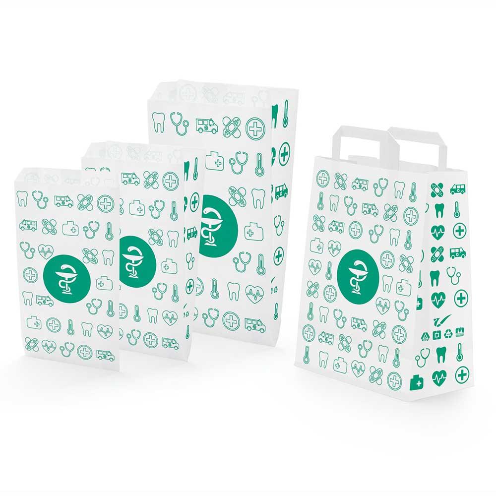 bolsa de papel para medicamentos