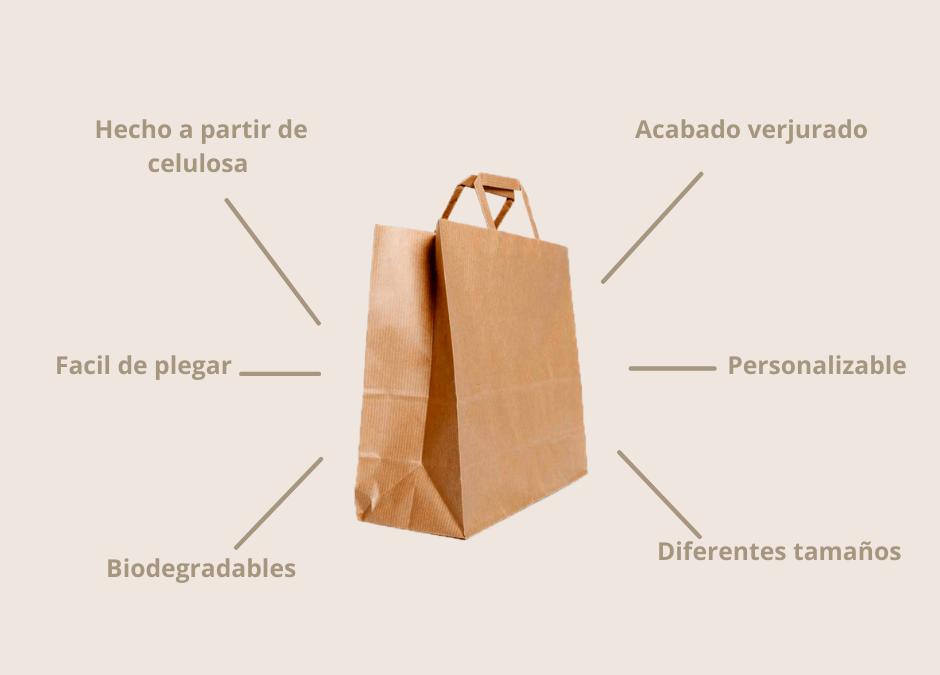 Bolsas de papel kraft asa plana en Alcaval