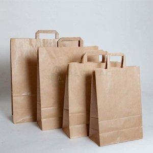 gramaje elegir para las bolsas kraft con asa plana